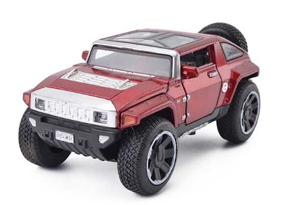 Golden / Red / Blue / Army Green 1:32 Scale Dieast Hummer HX Toy