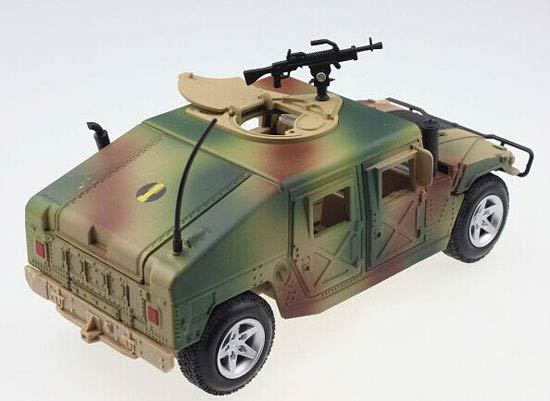 Green /Creamy White 1:24 Scale Kids Diecast Military Hummer Toy
