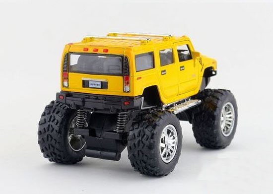White / Black / Blue / Red Kids Big Tires Diecast Hummer H2 Toy
