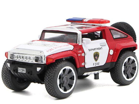 Red / Black Kids 1:32 Scale Diecast Hummer HX Toy