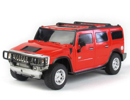 Kids Red / Yellow / Black Plastics R/C Hummer H2 Toy