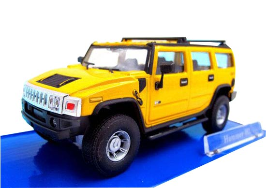Black /Gray /Red /Yellow Cararama 1:43 Diecast Hummer H2 Model