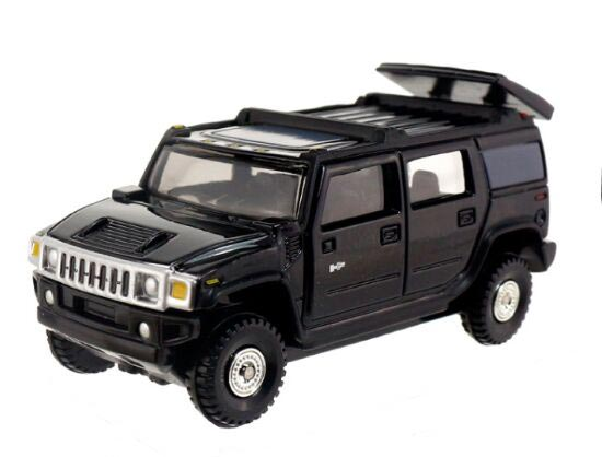 Kids Black 1:67 Scale TOMY Diecast Hummer H2 Toy