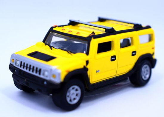 Kids Yellow / Golden 1:64 Scale Diecast Hummer H2 Toy