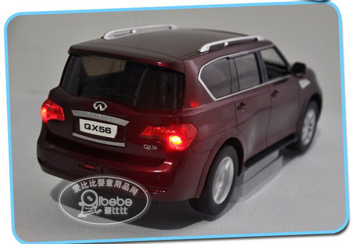 1:16 Scale Kids Black / Wine Red / White R/C Infiniti QX56 Toy