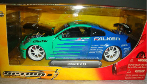 1 24 Scale Jada Diecast Infiniti G35 Model It01t0007