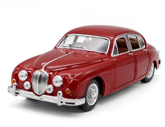 Red 1:18 Scale Bburago Vintage Diecast 1959 Jaguar MARK Model
