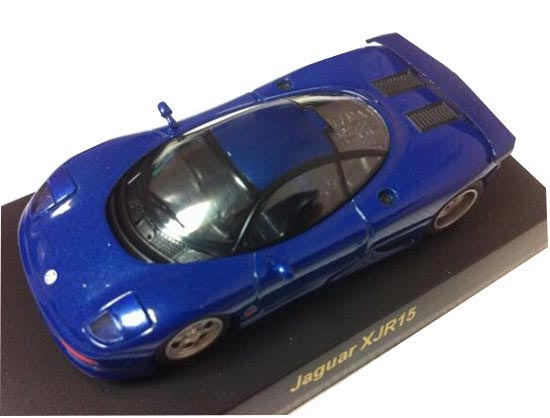 Blue / Black 1:64 Scale KYOSHO Diecast Jaguar XJR15 Model