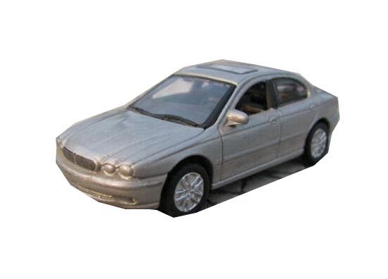 YAT MING Gray / Red 1:72 Scale Diecast Jaguar X-type Model