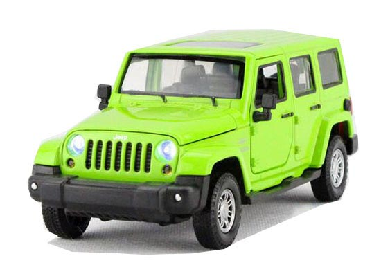 Kids Yellow / Green /Red 1:32 Diecast Jeep Wrangler Rubicon Toy