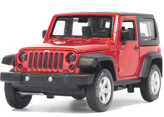 Kids 1:32 Scale Six Colors Diecast Jeep Wrangler Rubicon Toy