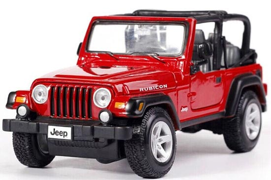 Red / Blue / Khaki 1:27 Maisto Diecast Jeep Wrangler Rubicon