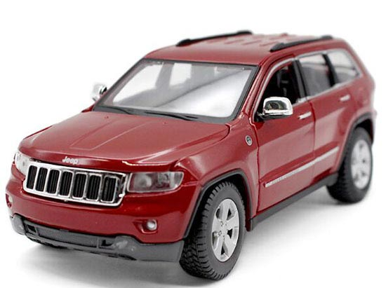 Red / White 1:24 Scale Maisto Diecast Jeep Grand Cherokee Model