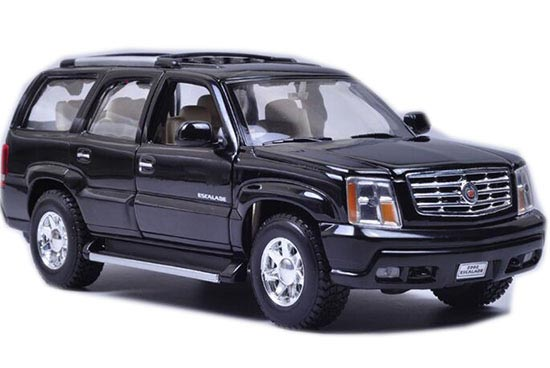 Black / White 1:24 Scale Welly Diecast Cadillac Escalade Model