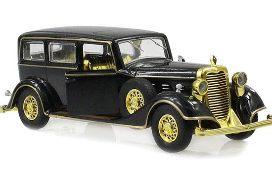 Kids 1:32 Scale Black /Wine Red Diecast Cadillac Vintage Car Toy