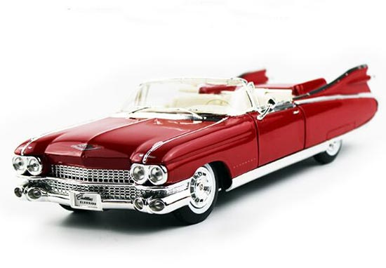 Pink / Red 1:18 Scale Maisto Diecast Cadillac Vintage Car Model
