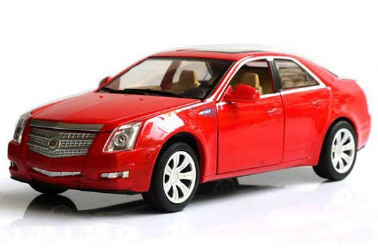 1:32 Scale Kids White / Black / Red Diecast Cadillac CTS Toy