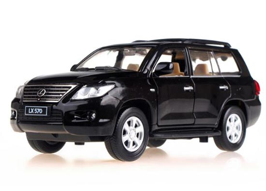 Red / White / Blue / Black Kids 1:32 Diecast Lexus LX570 Toy