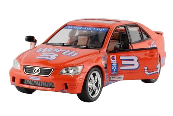 Kids Orange 1:36 Scale NO.3 WRC Diecast Lexus IS300 Toy