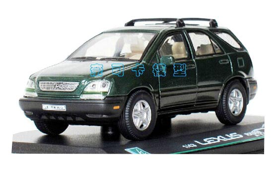 Green 1:43 Scale Cararama Diecast Lexus RX300 Model