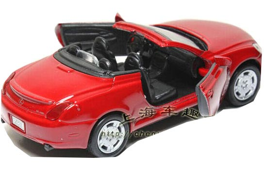 Silver / Blue / Red 1:34 Scale Welly Diecast Lexus SC430 Toy