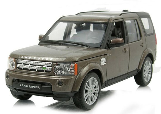 1:24 White / Black / Silver /Brown Diecast Land Rover Discovery