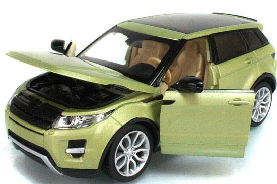 1:24 Scale Green / Red Diecast Range Rover Evoque Model