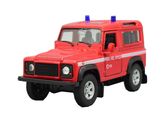 Welly Kids Red /White 1:36 Scale Diecast Land Rover Defender Toy