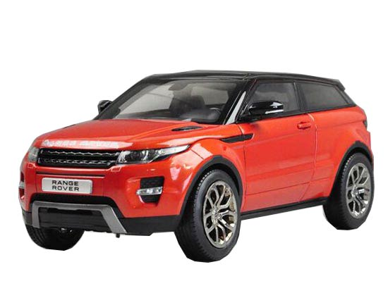 1:18 Red / White /Orange Welly Diecast Range Rover Evoque Model