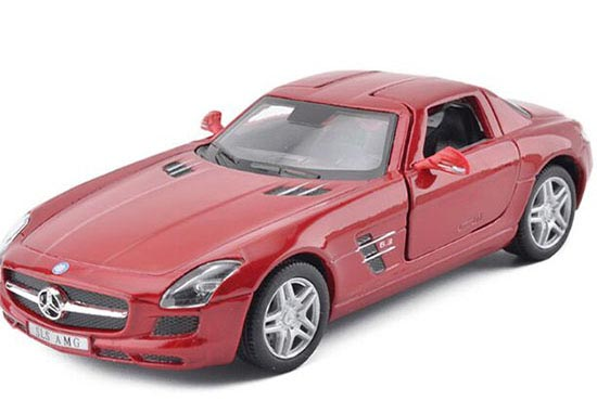 1:36 Scale Red / White / Black / Silver Mercedes-Benz SLS AMG