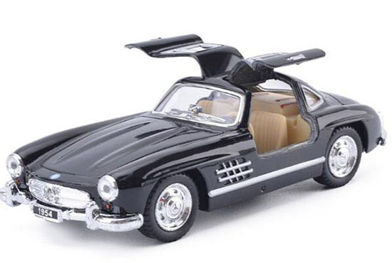 Red / White / Black / Silver 1:36 Scale Mercedes-Benz 300 SL