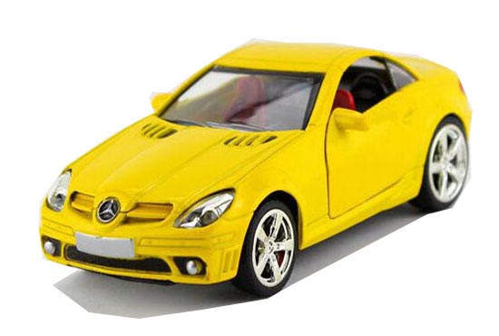 Red / White / Yellow / Silver 1:36 Mercedes-Benz SLK 55 AMG