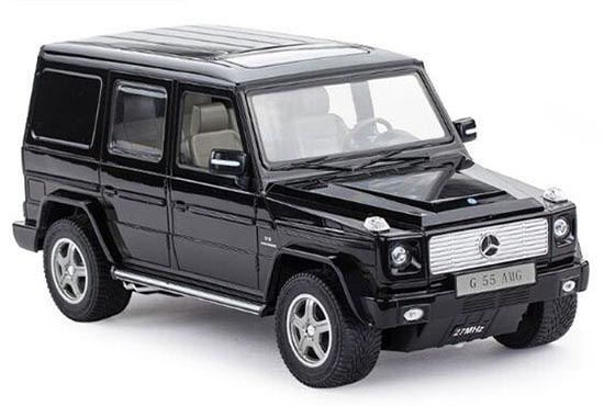 Kids 1:24 Scale Silver / Black R/C Mercedes-Benz G55 AMG Toy
