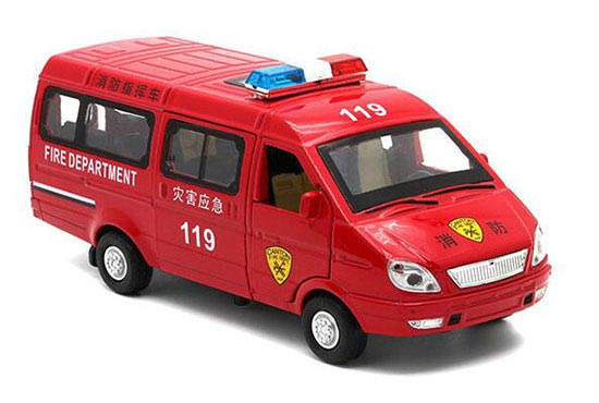 Kids 1:32 Scale Red Diecast Mercedes-Benz Fire Fighting Van