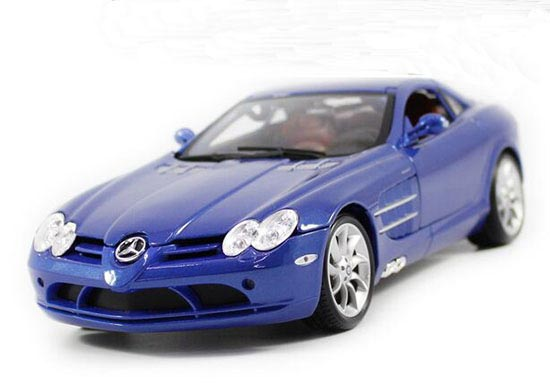 Gray / Blue 1:18 Scale Diecast Mercedes-Benz SLR McLaren Model