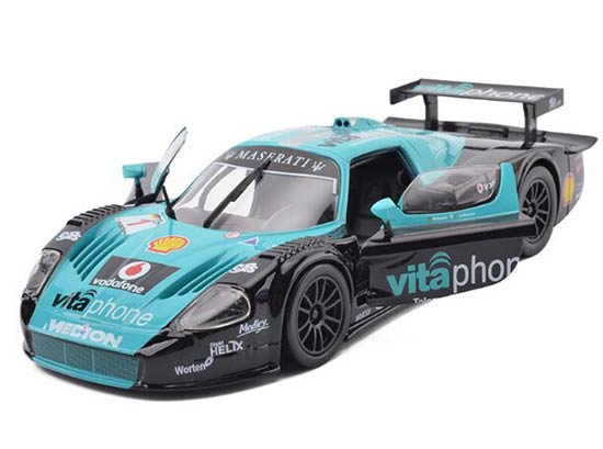 Green-Black 1:24 Scale Bburago Diecast Maserati MC 12