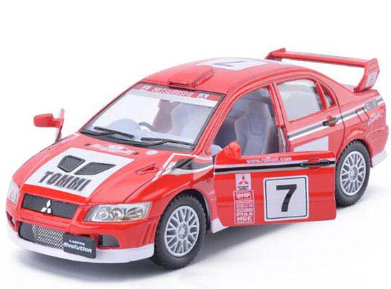 Red 1:36 Scale Kids NO.7 WRC Diecast Mitsubishi Lancer Toy