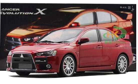 1:18 Five Colors Diecast Mitsubishi Lancer Evolution X Model