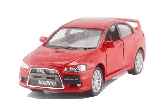 White / Yellow / Red /Blue 1:36 Diecast Mitsubishi Lancer EVO X