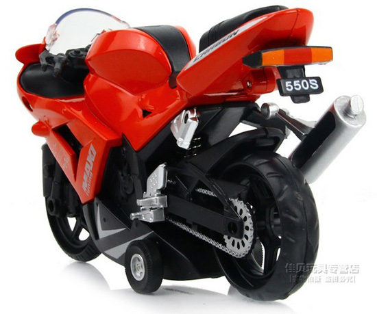 Kids Red / Blue / Orange Pull-Back Function Motorcycle Toy