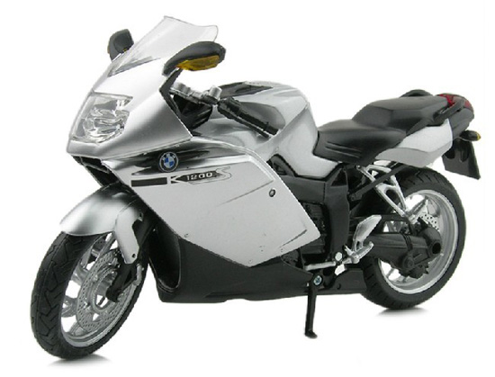 1:12 Scale Silver / Yellow / Blue BMW K1200S Motorcycle Toy