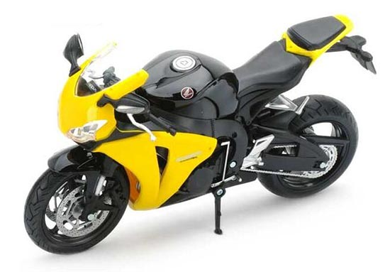 1:12 Scale Red / Yellow / Silver HONDA CBR1000RR Motorcycle Toy