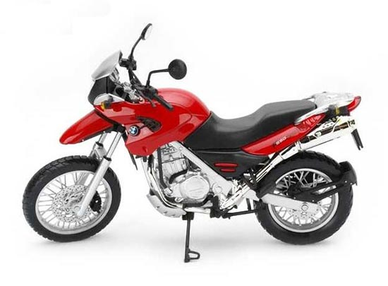 1:12 Scale Kids Red / Black / Silver BMW F650GS Motorcycle Toy
