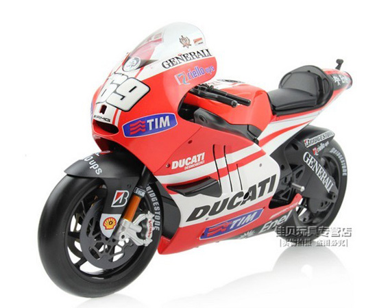 1:6 Scale Red-White Maisto DUCATI GP11 Motorcycle Toy