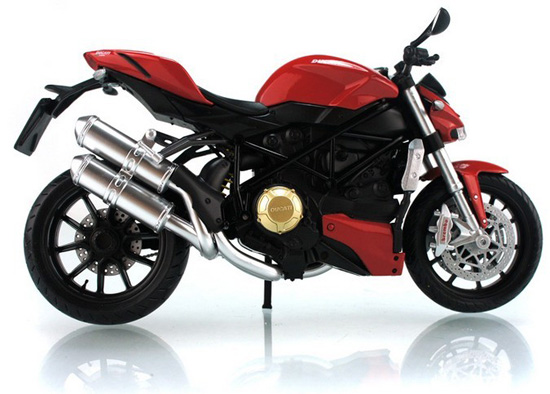 1:12 Scale Kid Red /White /Black DUCATI StreetFighter Motorcycle