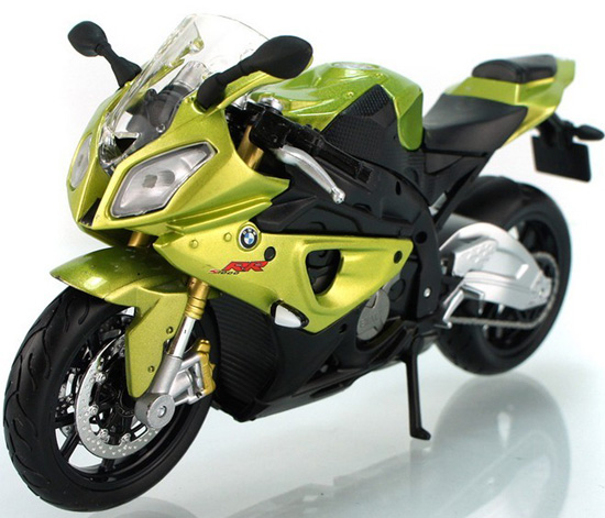 1:12 Scale Blue-White / Yellow Kids BMW S1000RR Motorcycle Toy