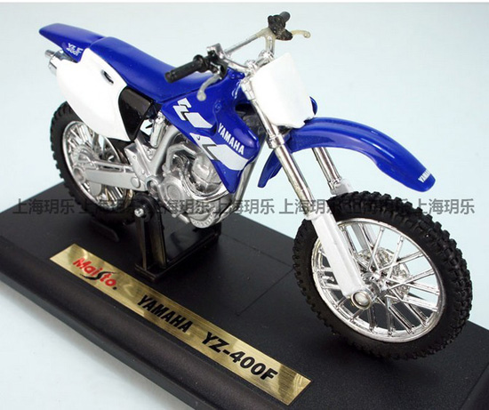 1:18 Scale Kids Blue-White Yamaha YZ-400F Motorcycle Toy