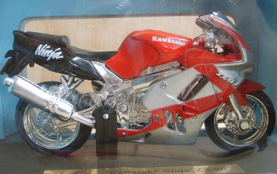 Red 1:18 Scale Kids Kawasaki Ninja ZX-9R Motorcycle Toy