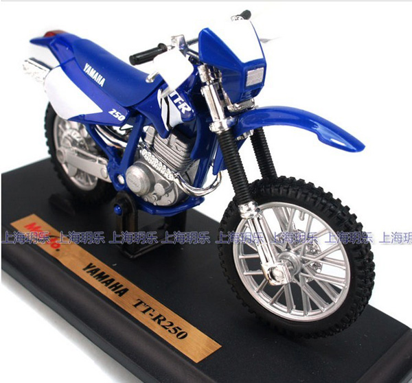 1 18 scale blue kids yamaha tt r250 motorcycle toy