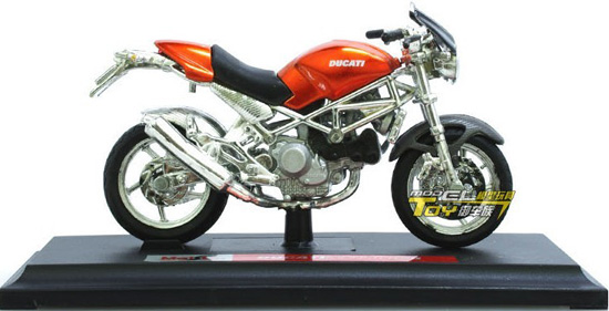 1:18 Scale Red Kids DUCATI Monster S4 Motorcycle Toy